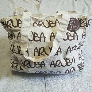 Aruba Zippered Tote Bag